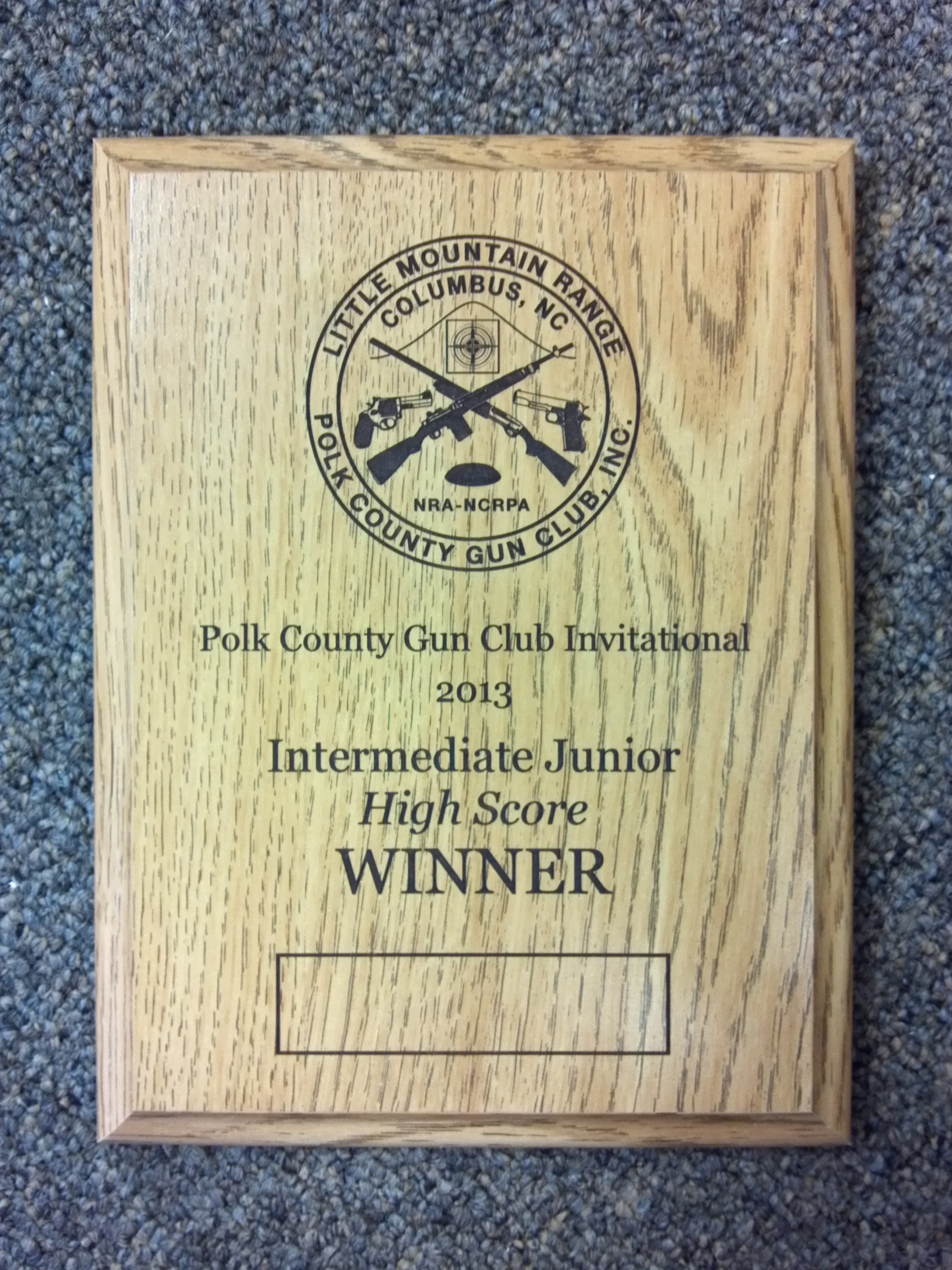 Wooden Plaque with Laser Engraving