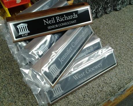 Laser Engraved Walnut Nameplates